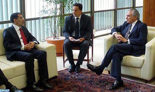 تعزيز التعاون الثنائي محور مباحثات السيد العثماني ببرازيليا