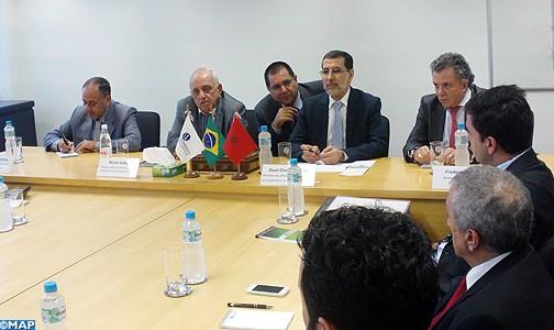 السيد العثماني يعقد بساوباولو اجتماعا مع رجال أعمال مغاربة وبرازيليين