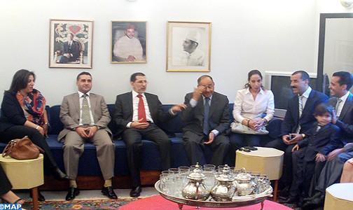 وزير الشؤون الخارجية والتعاون يزور الرواق الثقافي المغربي ببرازيليا
