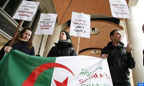 مظاهرة بلندن للتنديد بانتهاكات حقوق الانسان في الجزائر