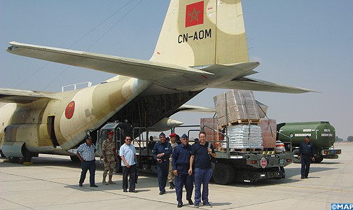 تواصل الجسر الجوي لنقل المساعدات المغربية لفائدة الفلسطينيين