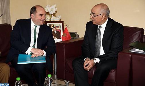 السيد الضريس يتباحث بالرباط مع وزير الدولة لشؤون الأمن لدى وزارة الداخلية البريطانية