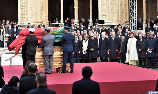 صاحب السمو الملكي الأمير مولاي رشيد يمثل جلالة الملك في جنازة الرئيس البرتغالي الأسبق ماريو سواريس