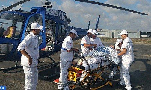نقل رجل مسن في حالة صحية حرجة على متن المروحية الطبية من ميسور إلى فاس