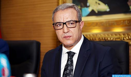 السيد محمد أوجار يتفقد ورش بناء قسم محكمة قضاء الأسرة بمدينة قصبة تادلة