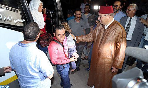 المجلس الوطني لحقوق الإنسان ينظم حفل استقبال بالرباط للاجئين سوريين كانوا عالقين على الحدود الجزائرية المغربية