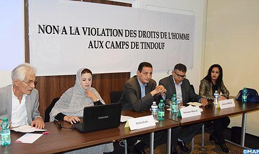 مشاركون في لقاء بباريس يدينون الخروقات السافرة لحقوق الانسان بمخيمات تندوف