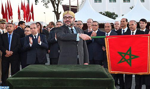 جلالة الملك يعطي انطلاقة مشروع تمديد الخط 2 لترامواي الرباط -سلا