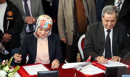 اتفاقية تعاون بين جهة فاس مكناس وشركة العربية للطيران المغرب لتنمية الربط الجوي بالجهة