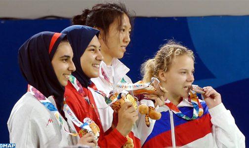 لاعبة التيكواندو فاطمة الزهراء أبو فارس تهدي المغرب أول ميدالية ذهبية في تاريخ مشاركته في الألعاب الأولمبية للشباب
