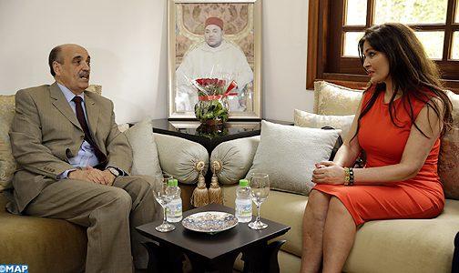 قضية الصحراء المغربية محور مباحثات بين السيد ولد الرشيد ونائبة إكوادورية ببرلمان الأنديز