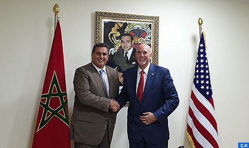 السيد عزيز أخنوش يتباحث مع رئيس الوكالة الأمريكية للخدمات الزراعية الدولية حول القضايا الرئيسية المتعلقة بالشراكة بين البلدين في المجال الفلاحي