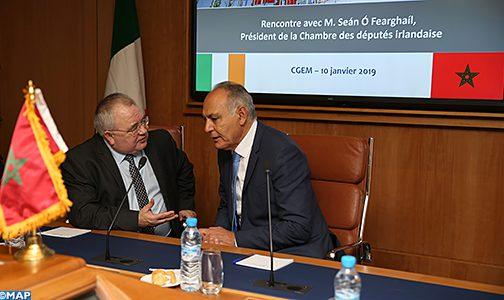 رئيس مجلس النواب الايرلندي يبرز الدور الريادي للمغرب في القارة الإفريقية