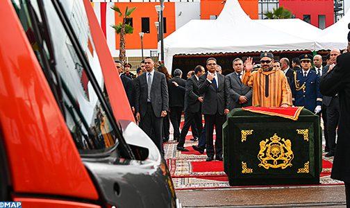 جلالة الملك يعطي انطلاقة تشغيل الخط الثاني لترامواي الدار البيضاء