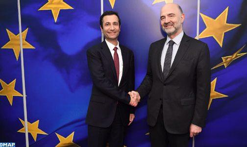 جهود المغرب في مجال الحكامة الجبائية محور مباحثات ببروكسيل بين السيد بنشعبون و المفوض الأوروبي للشؤون الاقتصادية