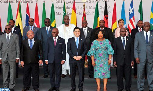 """البلدان الإفريقية المشاركة في مؤتمر مراكش تتفق على تفعيل """"الرؤية الحكيمة والمتشاور بشأنها"""" المعتمدة خلال قمة الاتحاد الإفريقي بنواكشوط بخصوص النزاع الإقليمي حول الصحراء المغربية"""