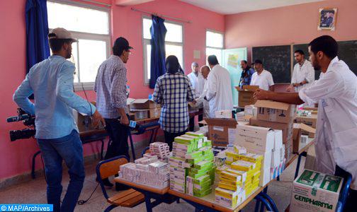 أزيد من 5600 مستفيد من خدمات قافلة طبية في جماعات حوض المعيدر بإقليم زاكورة