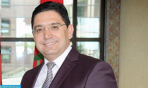 السيد بوريطة يؤكد على الانخراط النشيط للمغرب في قمة الضفتين