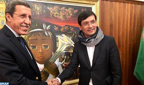 السيد عمر هلال، رئيس المجلس التنفيذي لليونيسيف ، يقوم بزيارة عمل إلى كولومبيا