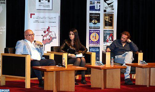 """تقديم نتائج بحث حول مفهوم وقيم العمل لدى الأجراء المغاربة ضمن فعاليات الدورة الثامنة لتظاهرة """"ليلة بيضاء للسينما وحقوق الإنسان"""""""