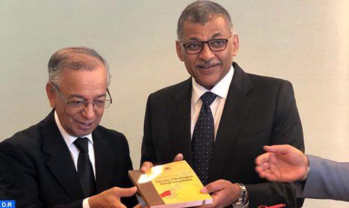 السيد مصطفى فارس يعرب عن اهتمام المغرب بتجربة مركز سنغافورة للتحكيم الدولي