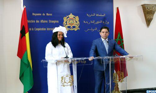 """غينيا بيساو تؤكد مجددا دعمها """"الثابت واللامشروط"""" لمغربية الصحراء ولمخطط الحكم الذاتي (بلاغ مشترك)"""
