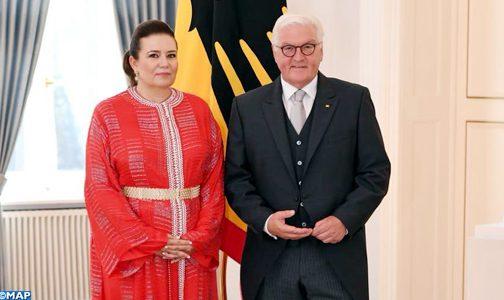 سفيرة جلالة الملك بألمانيا تقدم أوراق اعتمادها للرئيس فرانك فالتر شتاينماير