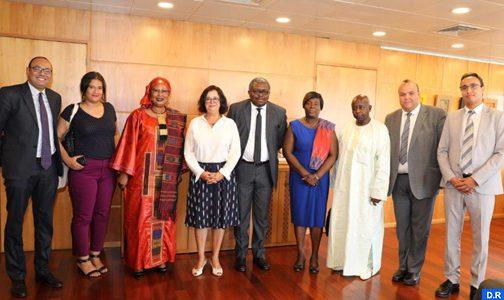 السيدة أخرباش تستعرض أمام وفد من الاتحاد الإفريقي جهود الهيئة العليا للاتصال السمعي البصري