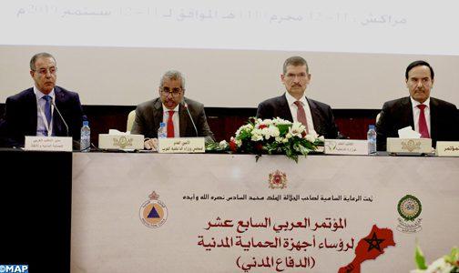 تزايد الأزمات والكوارث الطبيعية يفرض تنسيقا فعليا وناجعا على الصعيد العربي (السيد لفتيت)