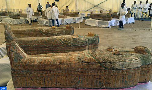 مصر… كشف أثري كبير يضم 30 تابوتا خشبيا يزيد عمرها عن 3000 سنة