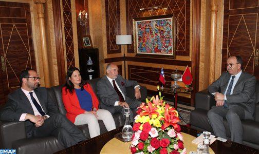 السيد بن شماش يبحث مع مسؤولين لاتينيين سبل تعزيز التعاون القائم بين المملكة ودول الشيلي والبيرو والمكسيك