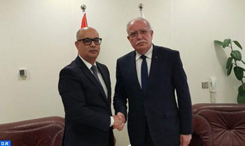 رياض المالكي يؤكد على الموقف الفلسطيني الداعم للوحدة الترابية للمملكة المغربية
