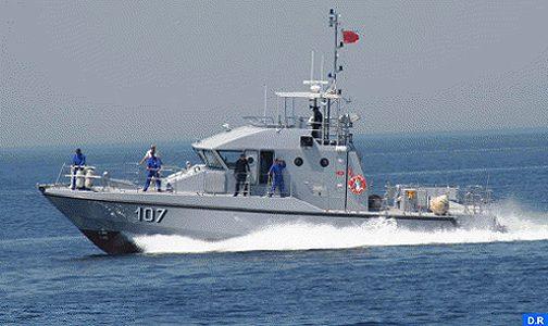 البحرية الملكية توقف 157 مرشحا للهجرة غير الشرعية في المتوسط والأطلسي ما بين 2 و 4 ماي الجاري
