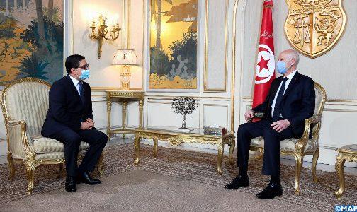 السيد بوريطة ينقل رسالة شفوية من جلالة الملك إلى الرئيس التونسي