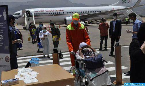 وصول 152 من المغاربة العالقين بمصر إلى مطار بني ملال