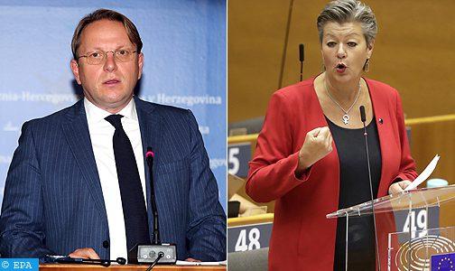 المفوضان الأوروبيان يوهانسون وفاريلي يتوجهان غدا الثلاثاء إلى المغرب