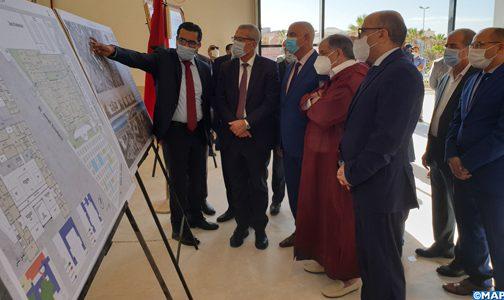 وزير العدل يتفقد ورش بناء المقر الجديد للمحكمة الابتدائية بالداخلة