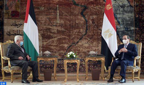الرئيسان المصري والفلسطيني يبحثان بالقاهرة آخر تطورات القضية الفلسطينية