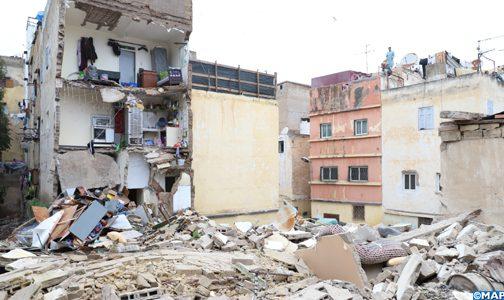 الدار البيضاء.. انهيار منزل مدرج ضمن المباني الآيلة للسقوط وخال من السكان بالمدينة القديمة
