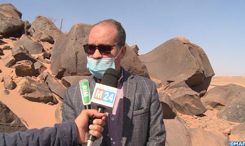 إقليم أسا الزاك..اللجنة الجهوية لحقوق الانسان كلميم واد نون تتفقد مواقع للنقوش الصخرية