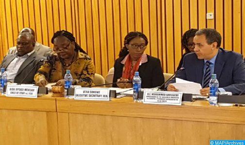 السفراء باللجنة الاقتصادية من أجل إفريقيا يشيدون عاليا بمقترح تقاسم التجربة المغربية في التلقيح ضد (كوفيد-19)