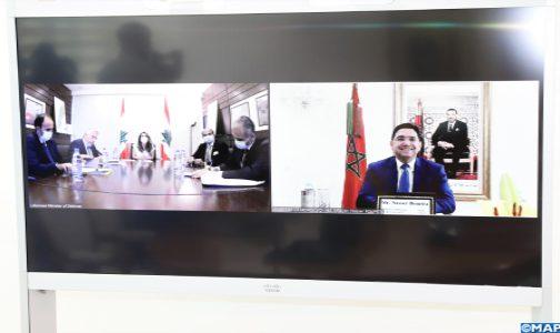 السيد ناصر بوريطة يجري مباحثات مع نظيرته اللبنانية