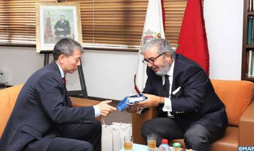 المدير العام لوكالة المغرب العربي للأنباء يتباحث مع سفير كوريا بالمغرب