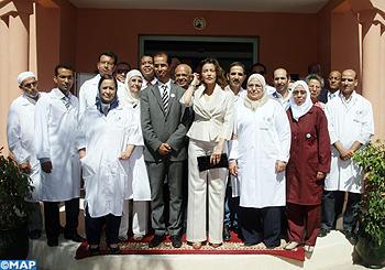 SAR La Princesse Lalla Meryem procède à Marrakech au lancement de la campagne nationale de vaccination contre la rougeole et la rubéole