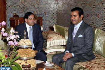 SAR le Prince Moulay Rachid reçoit le président de la société jordanienne