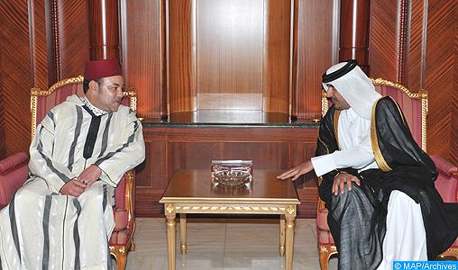 sm le roi adresse un message de f licitations et de voeux au nouvel mir du qatar map. Black Bedroom Furniture Sets. Home Design Ideas