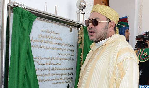 "SM le Roi, Amir Al-Mouminine, inaugure à Oujda la mosquée ""Al Fadila"""