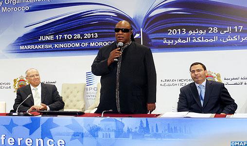 Stevie Wonder chante le Traité de Marrakech
