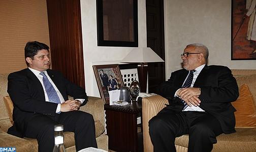 M. Benkirane s'entretient avec le ministre roumain des AE