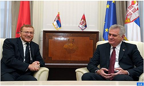 Le Président serbe reçoit M. Boulif